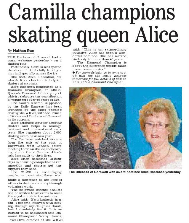 Her Majesty Hits the Ice